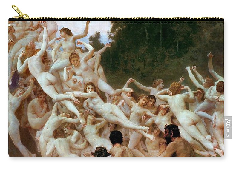 William-adolphe Bouguereau Carry-all Pouch featuring the painting The Oreads by William-Adolphe Bouguereau