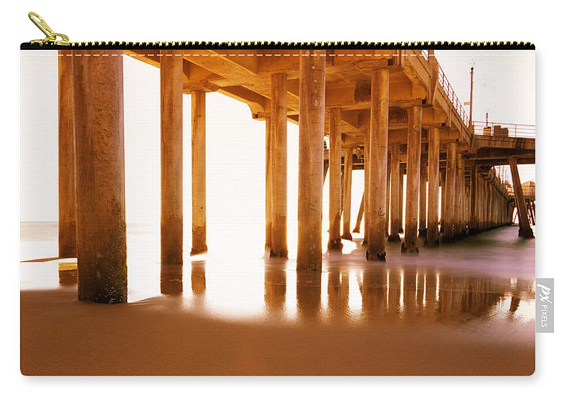 Beach Carry-all Pouch featuring the photograph The Pier II by Heidi Smith