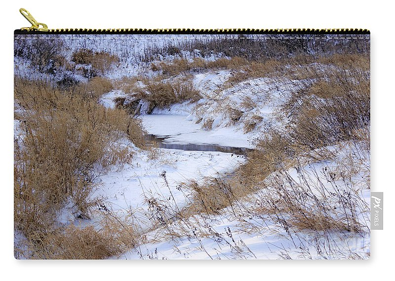 Frost Carry-all Pouch featuring the photograph The River Runs by Lori Tordsen
