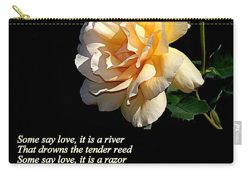 Poster Carry-all Pouch featuring the photograph The Rose by AJ Schibig