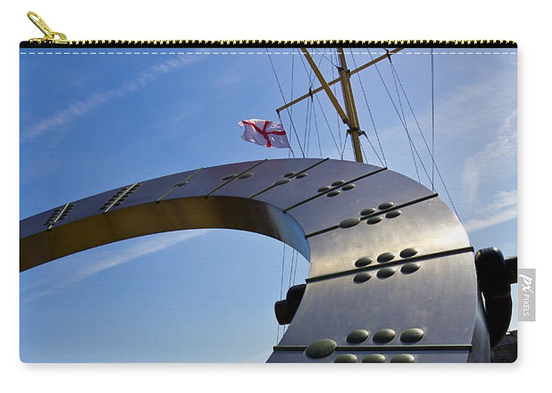 Sun Carry-all Pouch featuring the photograph The Sundial by David Pyatt