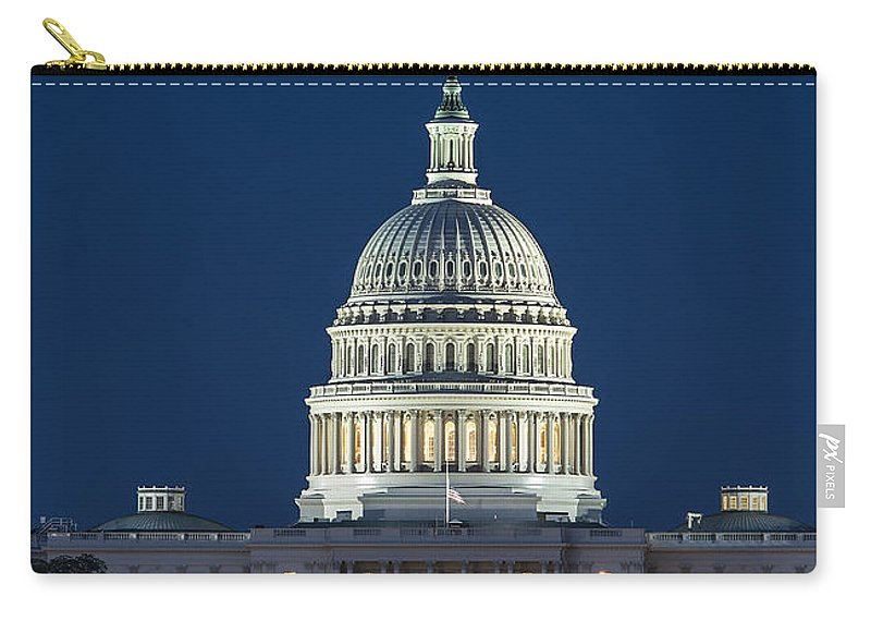 America Carry-all Pouch featuring the photograph The United States Capitol Building by John Greim