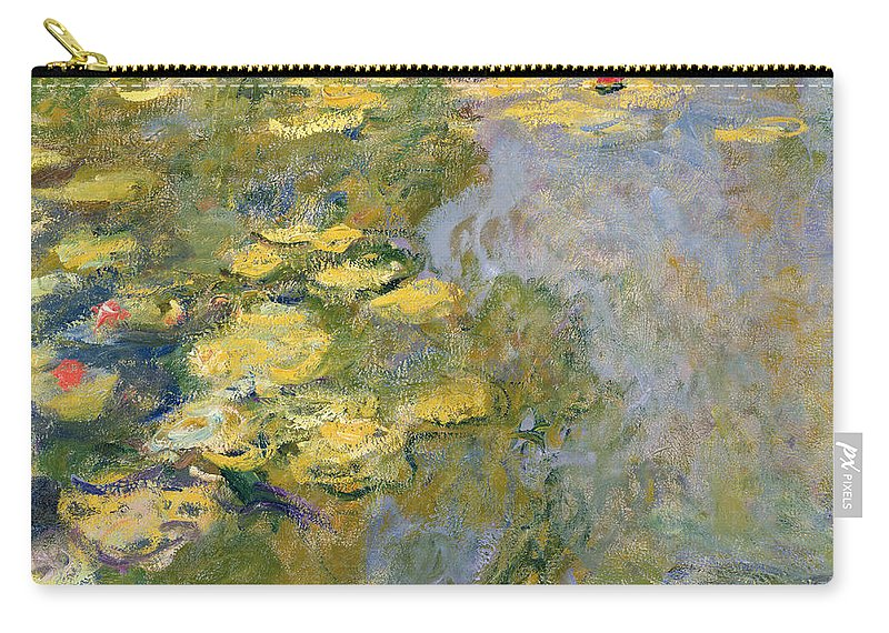 Impressionist Carry-all Pouch featuring the painting The Waterlily Pond by Claude Monet