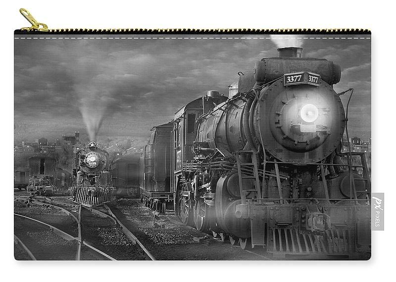 Transportation Carry-all Pouch featuring the photograph The Yard by Mike McGlothlen