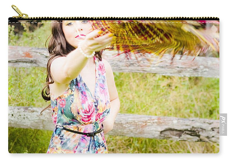Female Carry-all Pouch featuring the photograph Throw Your Hat Into The Ring by Jorgo Photography - Wall Art Gallery