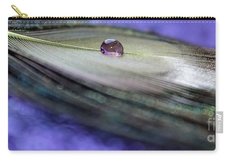 Feather Carry-all Pouch featuring the photograph Time Stood Still by Krissy Katsimbras