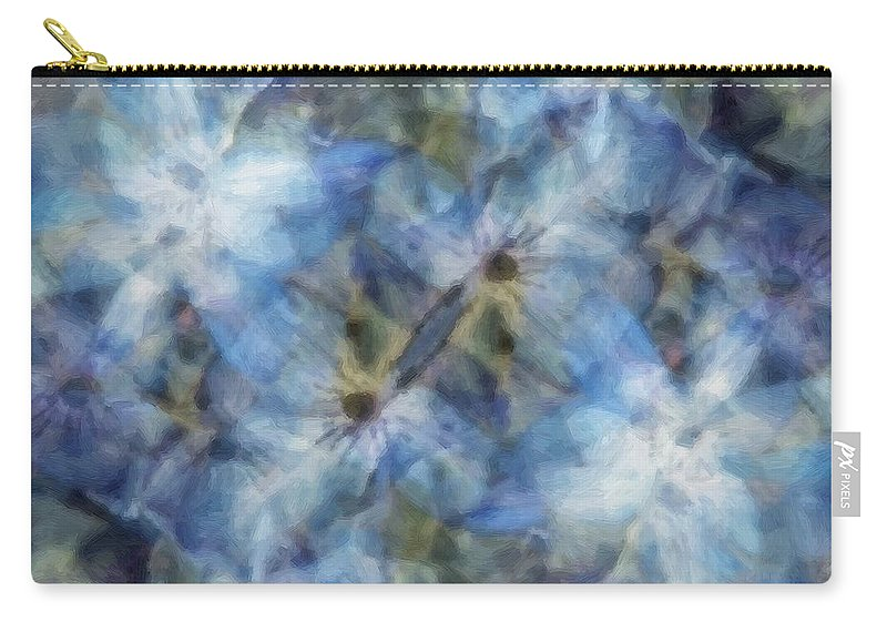 Clematis Carry-all Pouch featuring the painting Tissue Paper Blues by RC DeWinter
