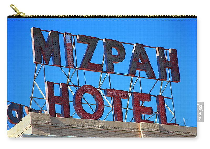 America Carry-all Pouch featuring the photograph Tonopah Nevada - Mizpah Hotel by Frank Romeo