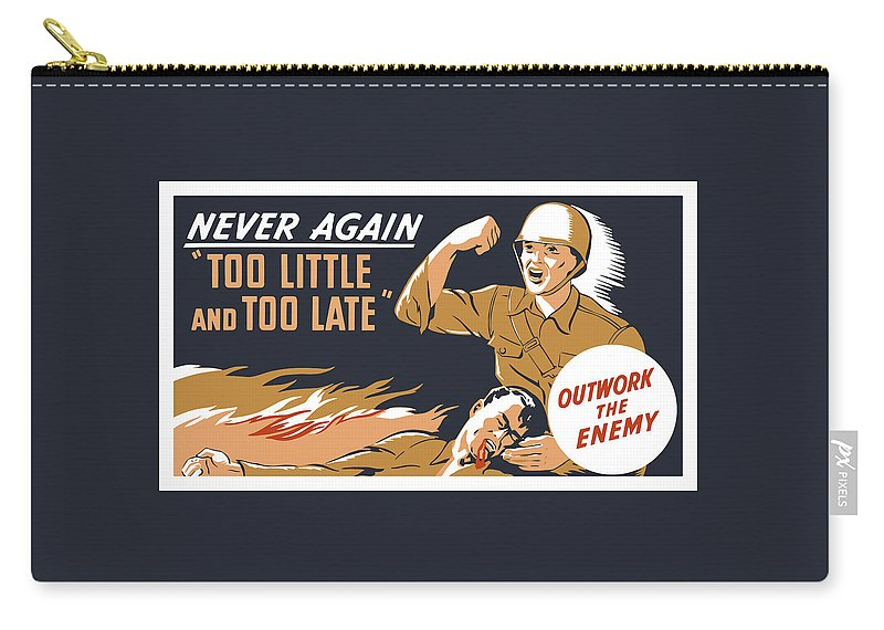 Ww2 Carry-all Pouch featuring the painting Too Little And Too Late - Ww2 by War Is Hell Store