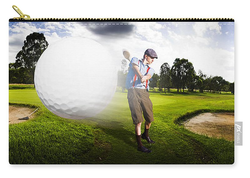 Golf Carry-all Pouch featuring the photograph Top Flight Golf by Jorgo Photography - Wall Art Gallery