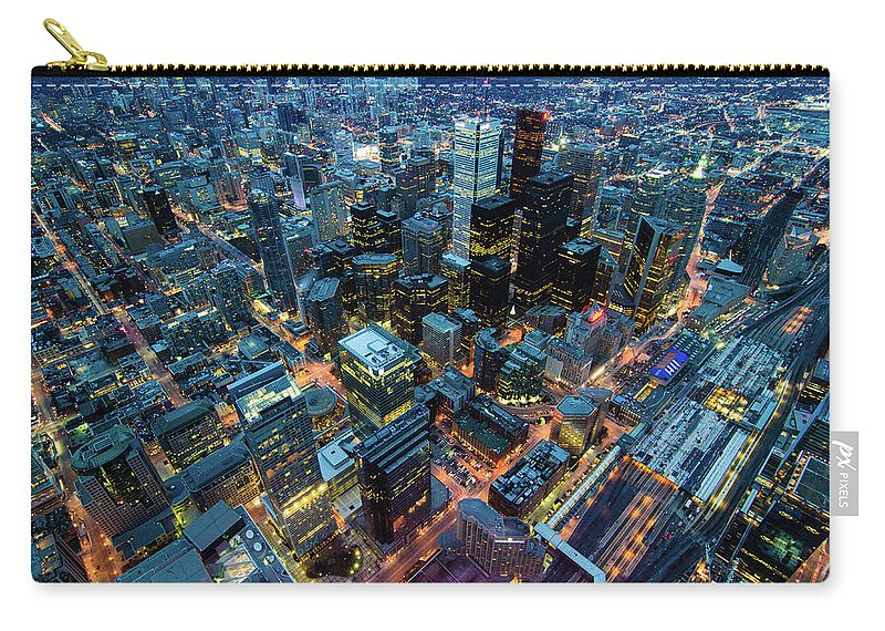 Toronto Carry-all Pouch featuring the photograph Toronto by Naeem Jaffer