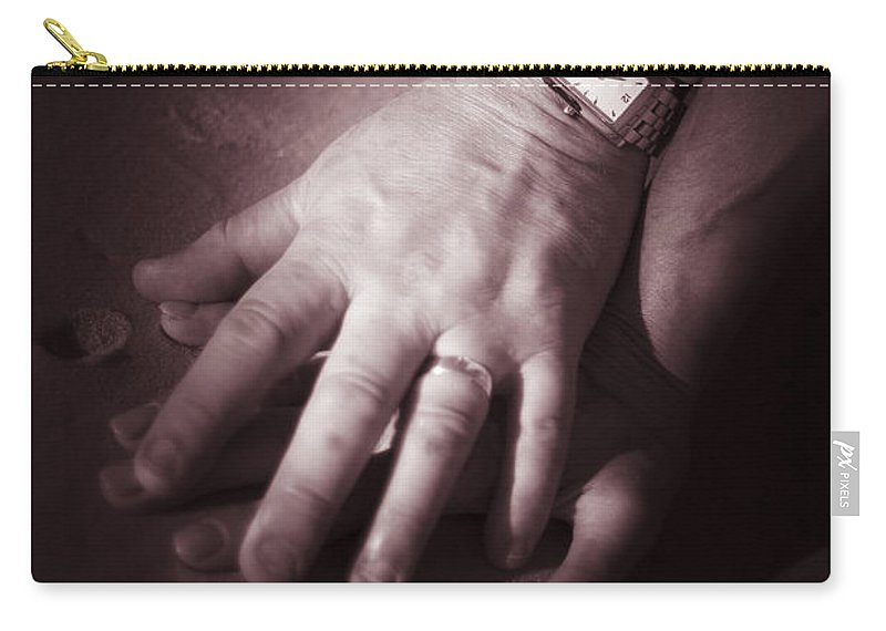 Affectionate Carry-all Pouch featuring the photograph Touching Wedding Moment by Jorgo Photography - Wall Art Gallery