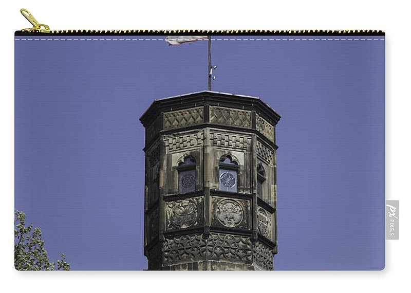 2014 Carry-all Pouch featuring the photograph Tower And Flag Cologne Germany by Teresa Mucha