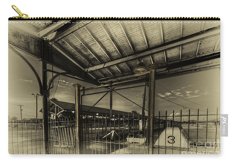 Trains Carry-all Pouch featuring the photograph Track 3 by Marvin Spates