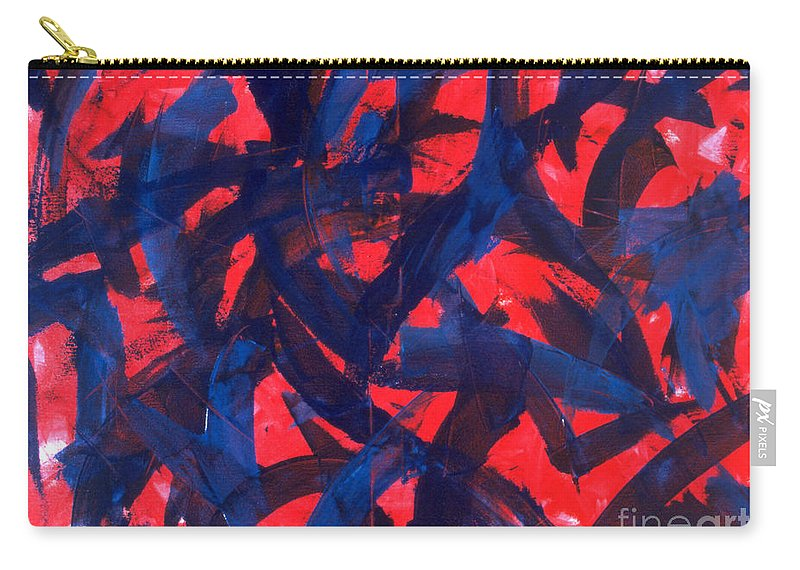 Abstract Carry-all Pouch featuring the painting Transitions VII by Dean Triolo
