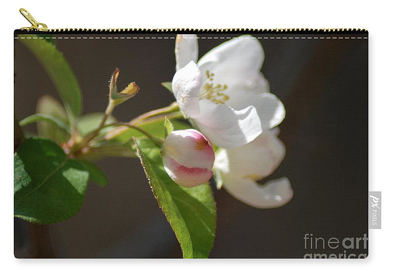 White Blossoms Carry-all Pouch featuring the photograph Tree Blossoms by Optical Playground By MP Ray