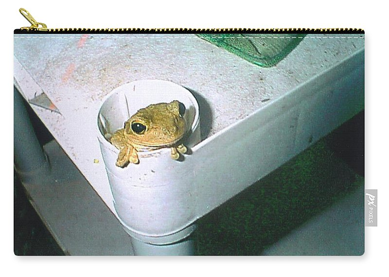 His Own Cubby Hole Carry-all Pouch featuring the photograph Treefrog by Robert Floyd