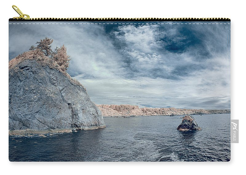 Infrared Carry-all Pouch featuring the photograph Trinidad Shoreline by Greg Nyquist