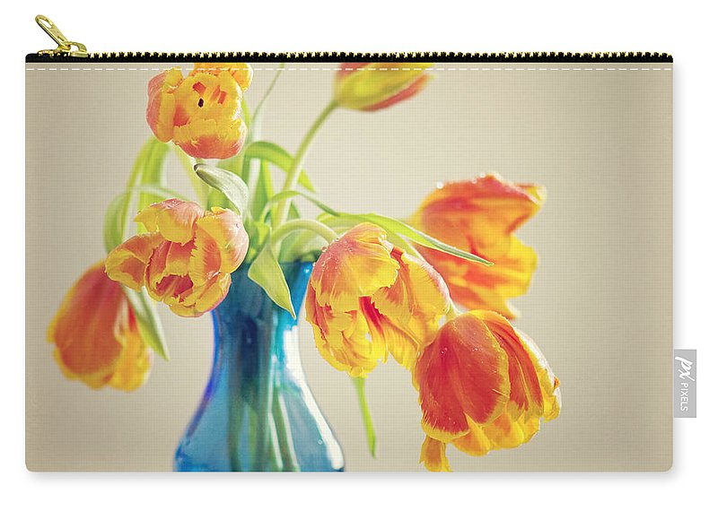 Tulpe Carry-all Pouch featuring the pyrography Tulip by Steffen Gierok
