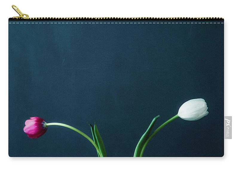 Mother's Day Carry-all Pouch featuring the photograph Tulip Still Life For Mothers Day by Catlane