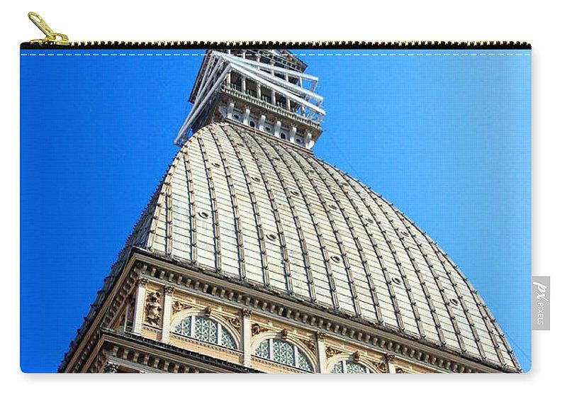 Mole Carry-all Pouch featuring the photograph Turin Mole Antonelliana by Valentino Visentini