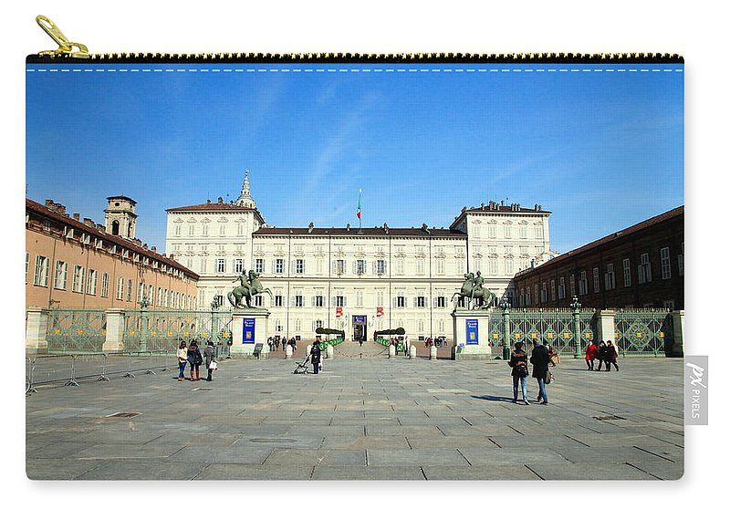Italy Carry-all Pouch featuring the photograph Turin Palazzo Reale by Valentino Visentini