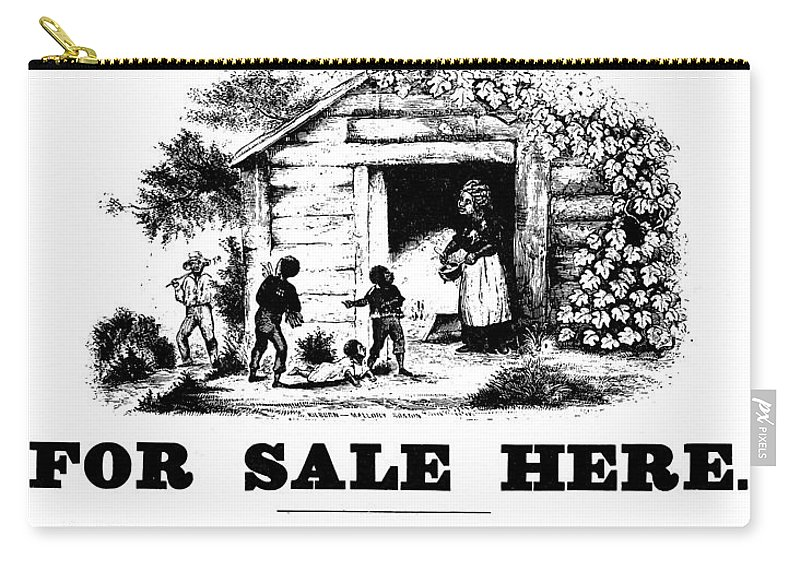 1852 Carry-all Pouch featuring the painting Uncle Tom's Cabin, C1860 by Granger