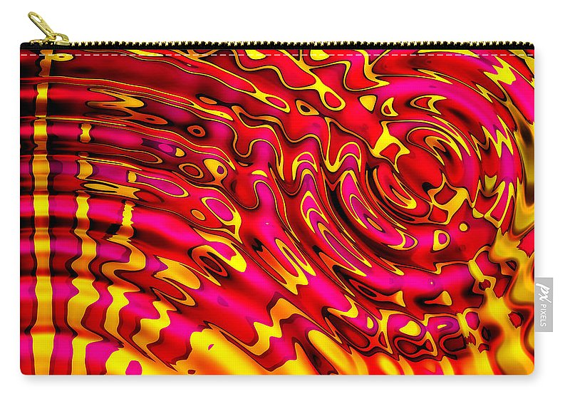 Red Carry-all Pouch featuring the digital art Universal Love by Robert Orinski