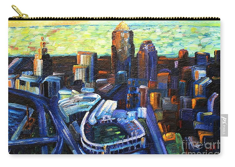 City Carry-all Pouch featuring the painting Urban by JoAnn DePolo