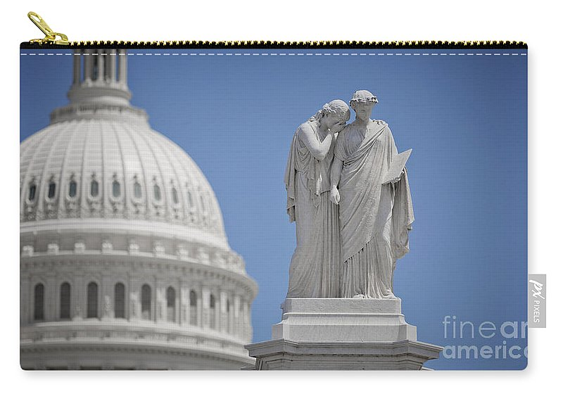 Us Carry-all Pouch featuring the photograph Us Capitol Peace Monument by B Christopher