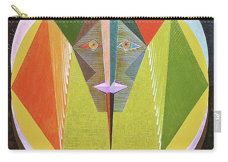 Spirituality Carry-all Pouch featuring the painting Vaillance by Michael Bellon