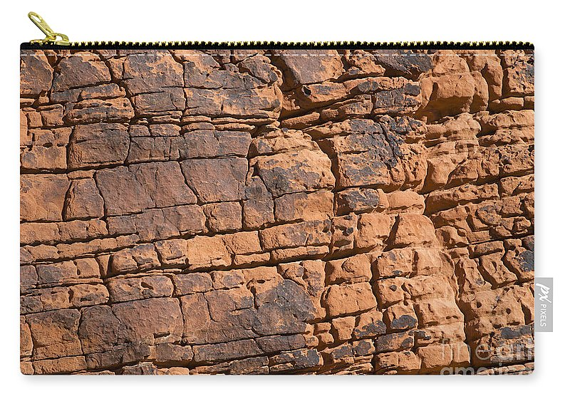 Red Carry-all Pouch featuring the photograph Valley Of Fire State Park Nevada by Jason O Watson
