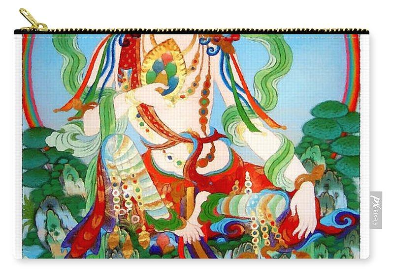 Vasudhara Carry-all Pouch featuring the photograph Vasudhara 3 by Jeelan Clark