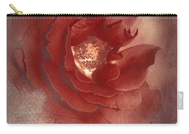 Vintage Photographs Carry-all Pouch featuring the photograph Victorian Rose by Mel Hensley