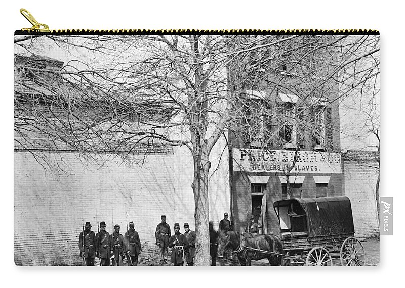1861 Carry-all Pouch featuring the photograph Virginia Slave Dealer by Granger