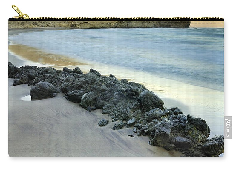 Seascape Carry-all Pouch featuring the photograph Volcanic Rocks by Guido Montanes Castillo