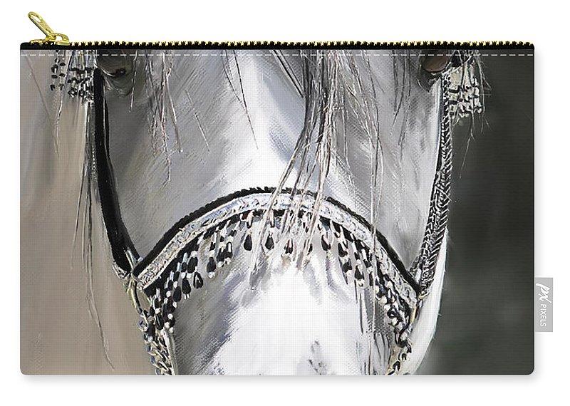 Wa Emfatyk Carry-all Pouch featuring the digital art Wa Emfatyk by Kim Upshaw