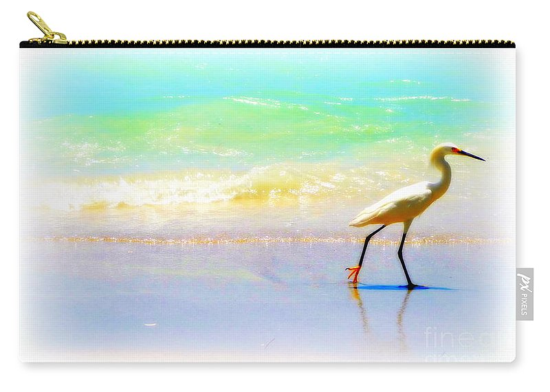 Crane Carry-all Pouch featuring the digital art Walking Bird by Valerie Reeves