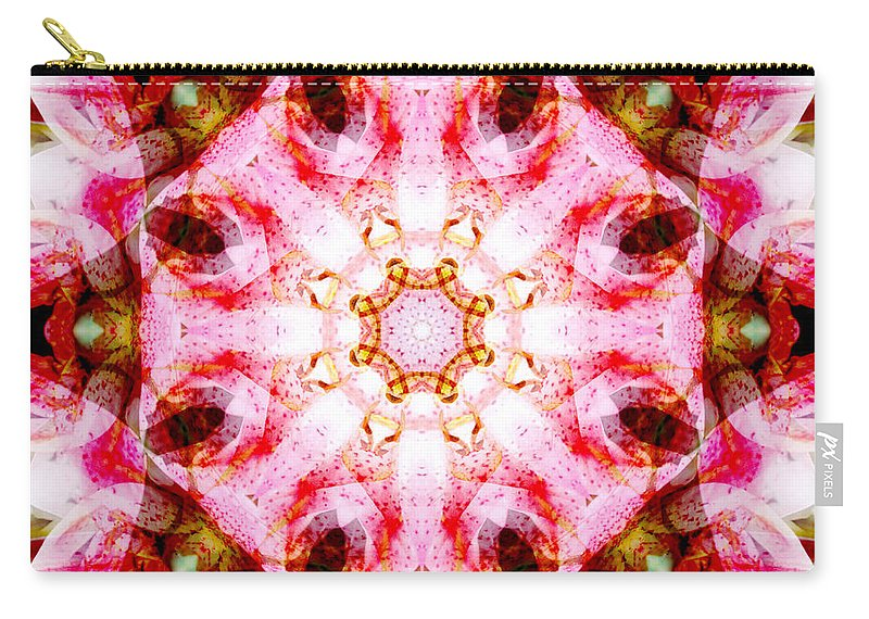 Rainbow Carry-all Pouch featuring the photograph Lily Mandala by Susan Bloom