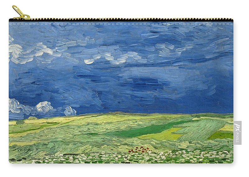 1890 Carry-all Pouch featuring the painting Wheatfield Under Thunderclouds by Vincent van Gogh