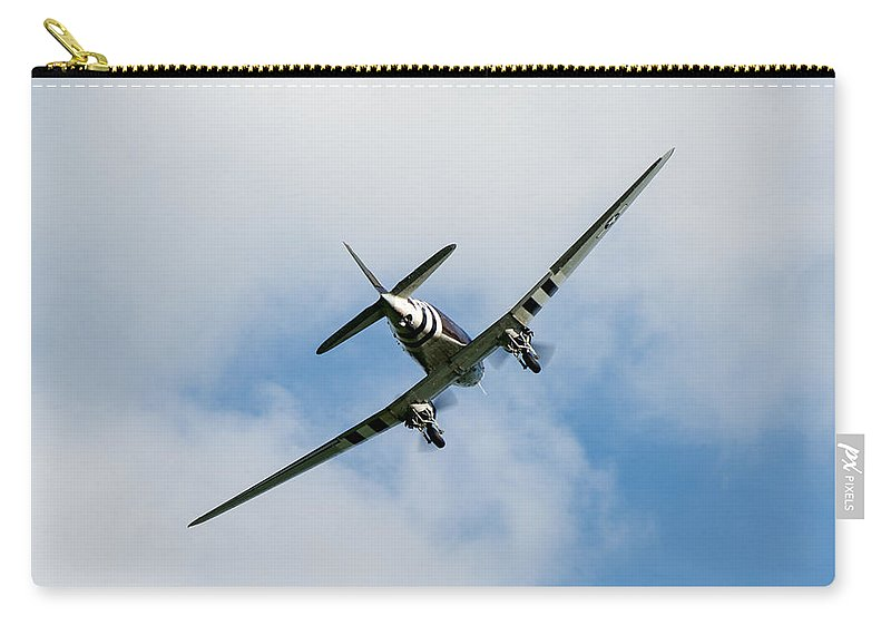 37th Troop Carrier Squadron Carry-all Pouch featuring the photograph Whiskey 7 Goes To War by Gary Eason