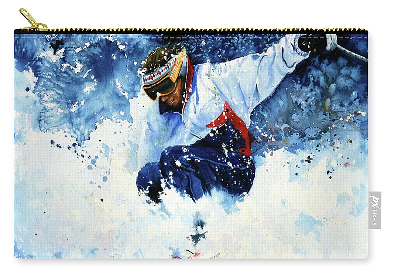 Sports Art Carry-all Pouch featuring the painting White Magic by Hanne Lore Koehler