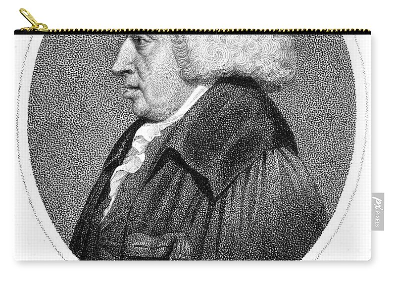 18th Century Carry-all Pouch featuring the photograph William Cullen (1710-1790) by Granger
