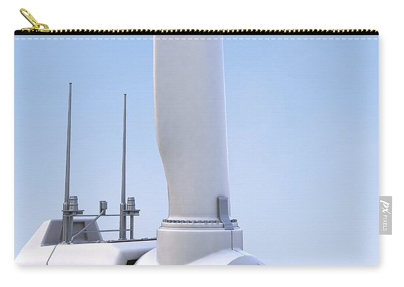 Green Energy Carry-all Pouch featuring the photograph Wind Turbine by Science Picture Co