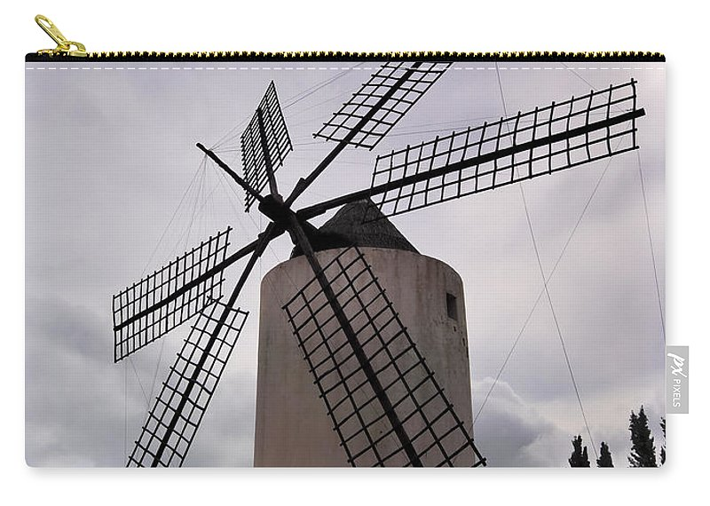 Windmill Carry-all Pouch featuring the photograph Windmill by Karol Kozlowski