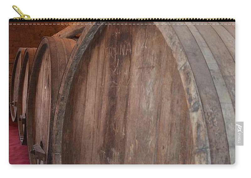Alcohol Carry-all Pouch featuring the photograph Wine Barrels by Dany Lison