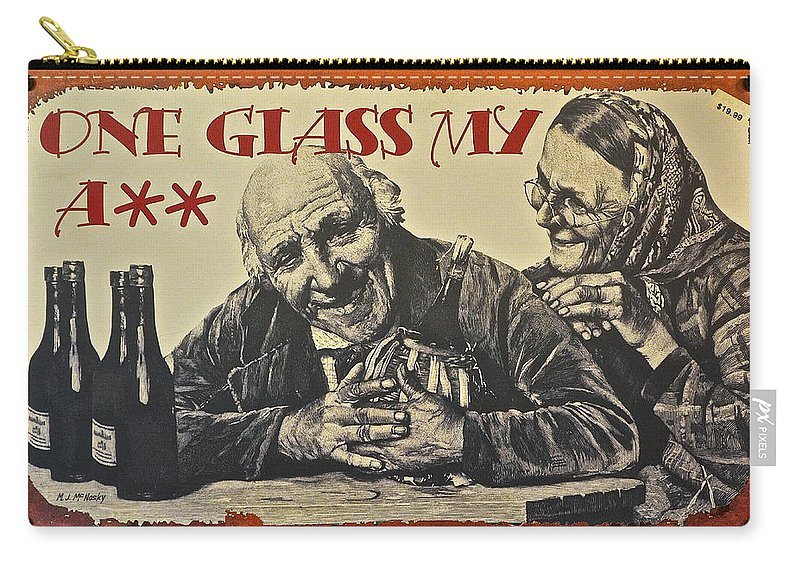 Wine Carry-all Pouch featuring the photograph Wine Is Fine by Frozen in Time Fine Art Photography