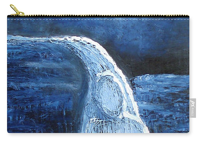Water Carry-all Pouch featuring the mixed media Winter Goddess by Angela Stout