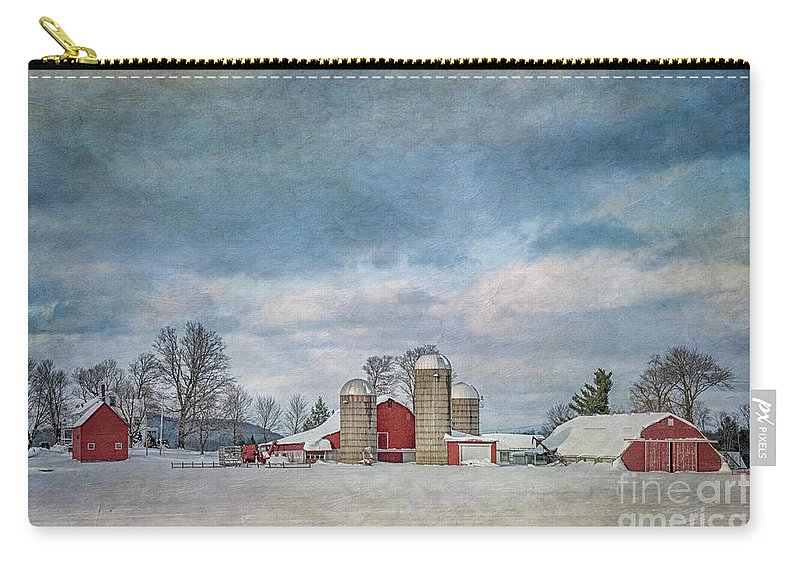 Winter Carry-all Pouch featuring the photograph Wintertime by Claudia Kuhn