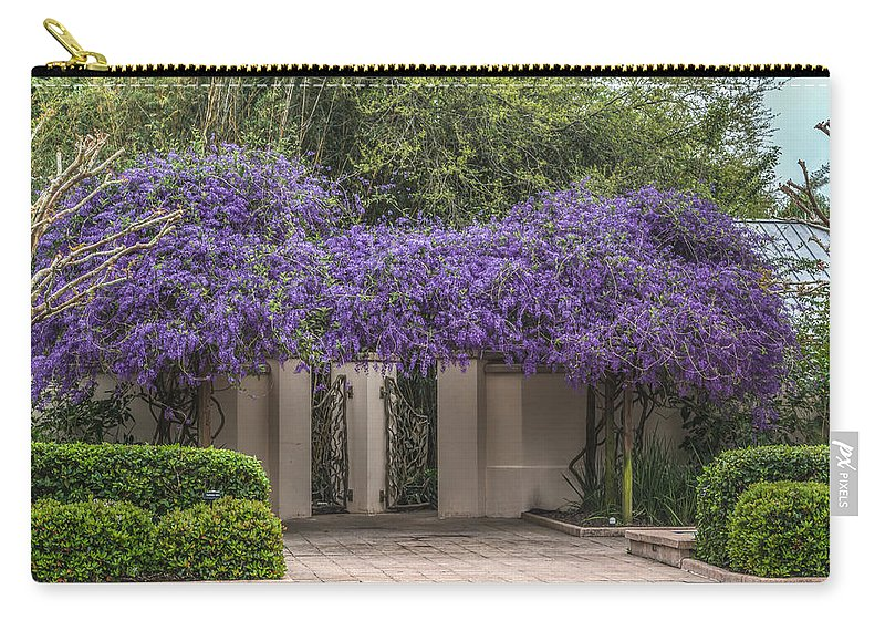 Florida Carry-all Pouch featuring the photograph Wisteria Arbor by Jane Luxton